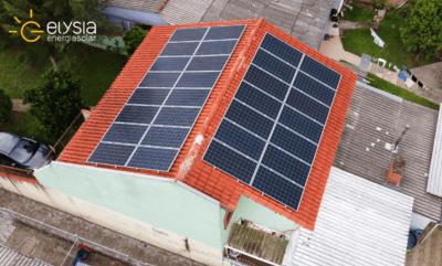 Energia fotovoltaica residencial Alvorada - Elysia energia solar RS
