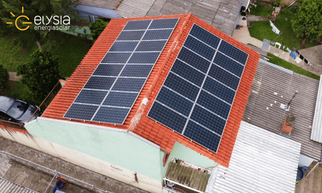 Energia solar residencial Alvorada
