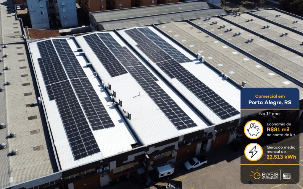 Energia solar empresa Porto Alegre - Elysia sistema fotovoltaico Rio Grande do Sul