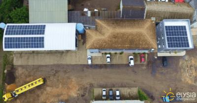 Posto de combustível energia solar - Elysia solução completa fotovoltaica RS