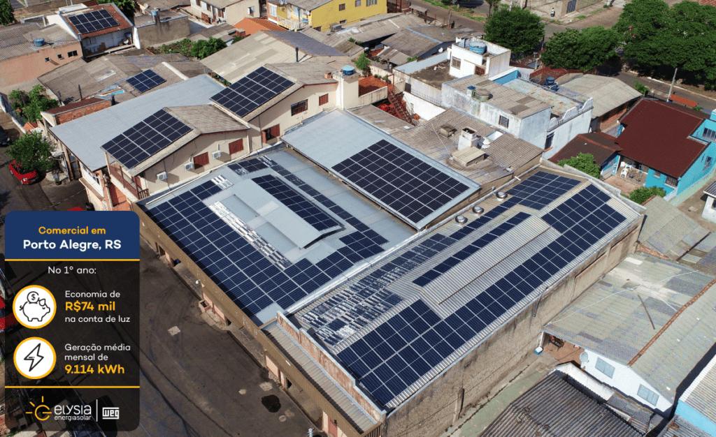 Painéis solares Porto Alegre - Elysia energia solar comercial