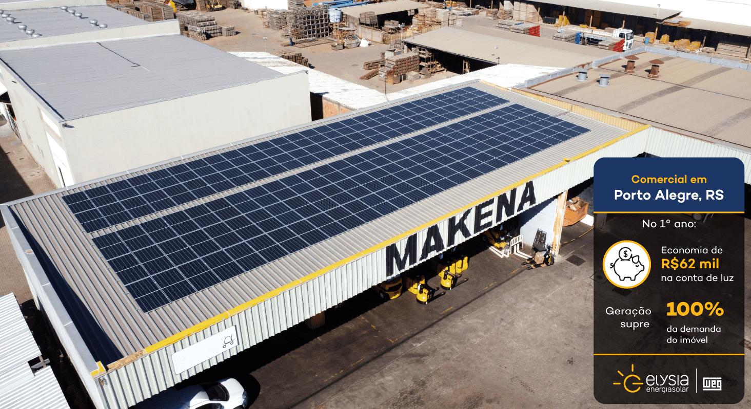Energia solar comercial Porto Alegre - Elysia sistema fotovoltaico RS