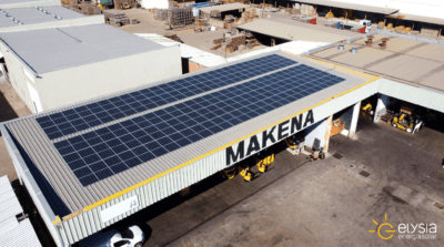 Energia solar em comércio de Porto Alegre