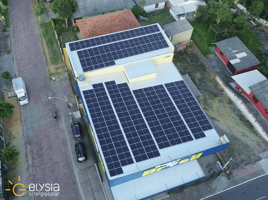 Energia solar em supermercado de Viamão