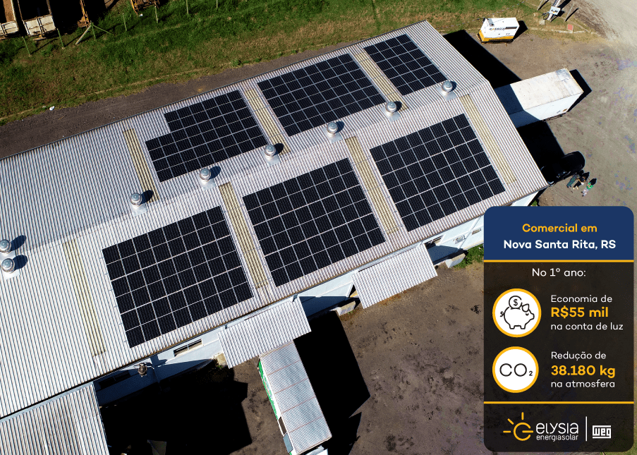 Indústria energia solar Rio Grande do Sul - Elysia sistema fotovoltaico grande porto alegre