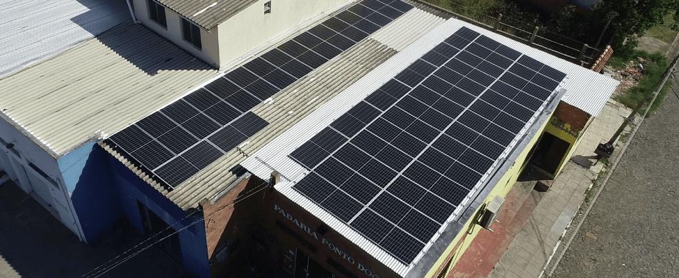 Energia solar em padaria de Alvorada - Elysia sistema fotovoltaico comercial