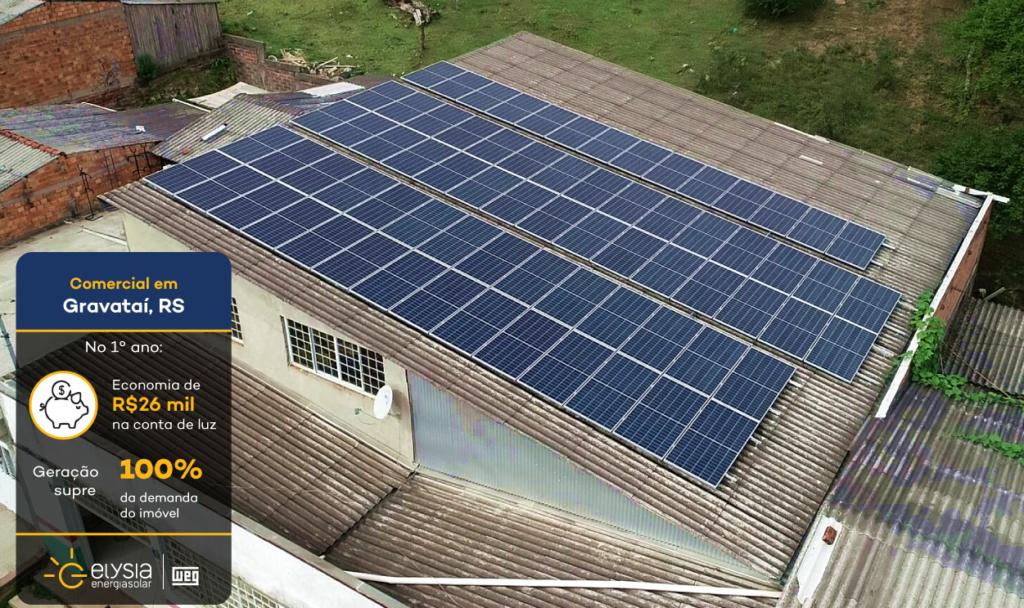 Energia solar mercado de Gravataí - Elysia sistema fotovoltaico Rio Grande do Sul