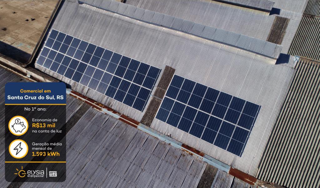 Empresa energia solar Santa Cruz do Sul - Elysia sistema fotovoltaico RS