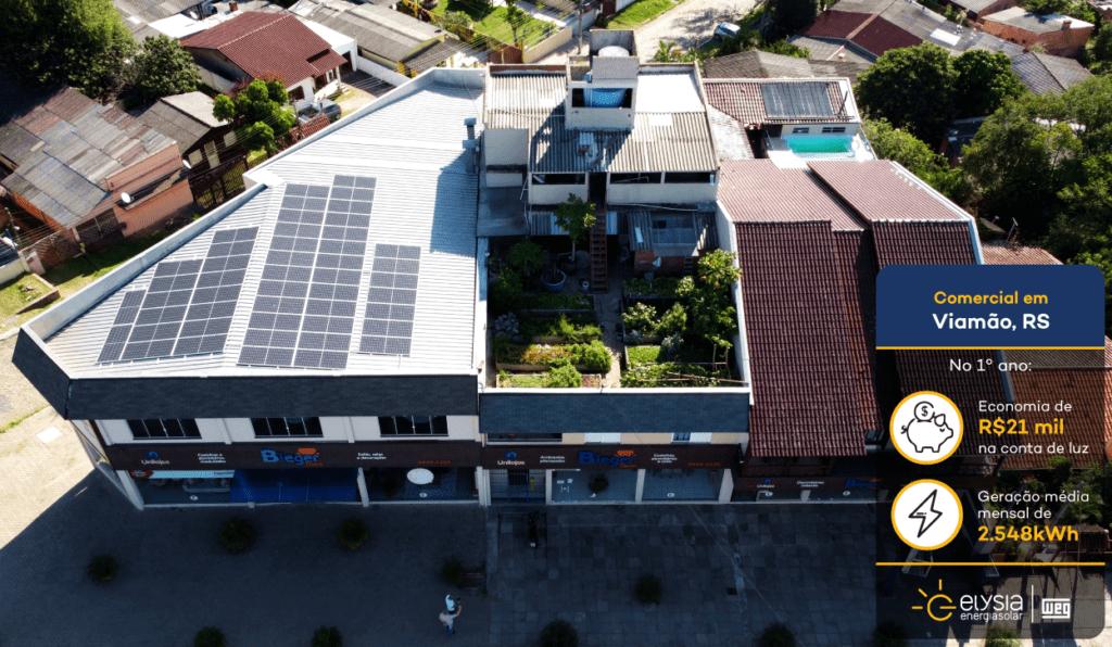 Loja de Viamão com energia solar - Elysia sistema fotovoltaico Grande Porto Alegre