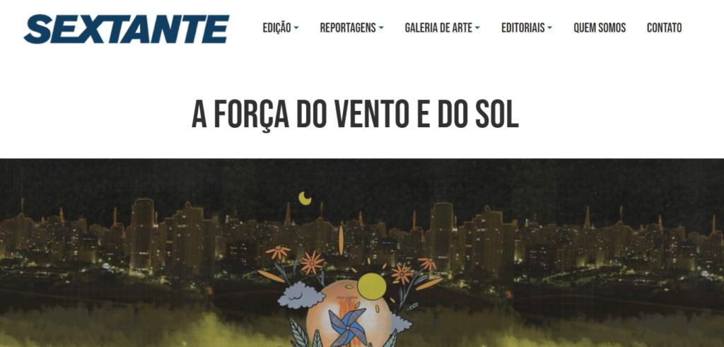 Elysia revista sextante ufrgs - imprensa energia solar
