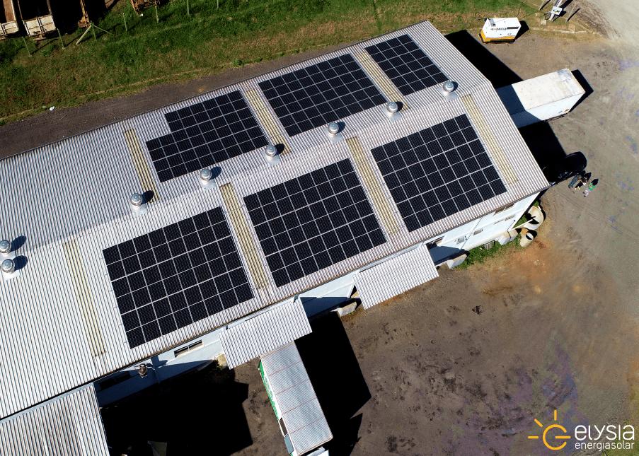 Sistema fotovoltaica em indústria - Elysia energia solar Rio Grande do Sul