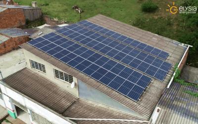 Mercado com energia solar Gravataí - Elysia sistema fotovoltaico empresarial
