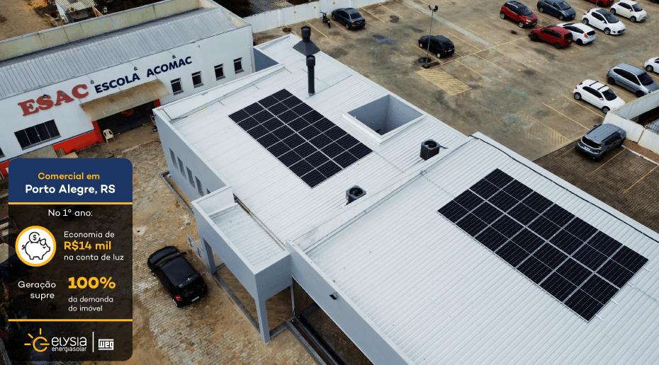 Entidade Porto Alegre Energia Solar - Elysia sistema fotovoltaico RS
