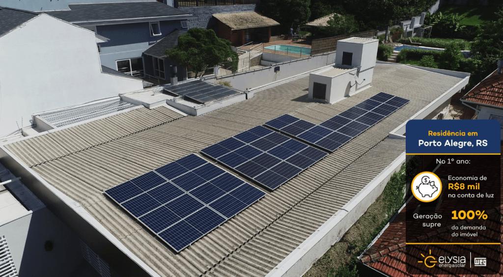 Energia solar três figueiras porto alegre - Elysia sistema fotovoltaico Rio Grande do Sul