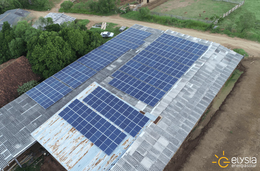 Energia solar em área rural de Viamão - Elysia sistema fotovoltaico Rio Grande do Sul