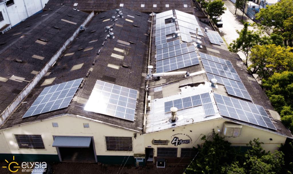 Energia solar em cervejaria de Porto Alegre - Elysia sistema fotovoltaico em empresas