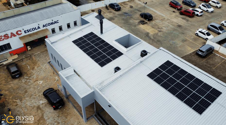 Energia solar em sede de associação de Porto Alegre - Elysia sistema fotovoltaico RS