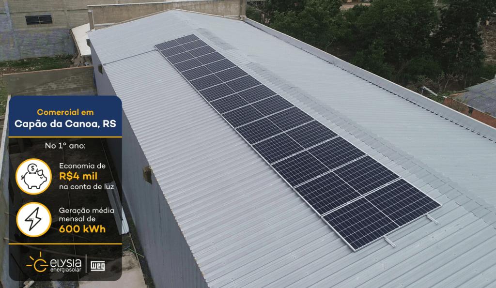 Capão da Canoa sistema fotovoltaico - Elysia energia solar Rio Grande do Sul