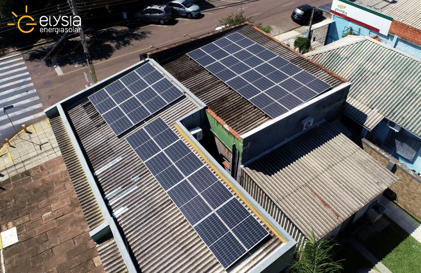 Energia solar comercial Esteio - Elysia sistema fotovoltaico Rio Grande do Sul